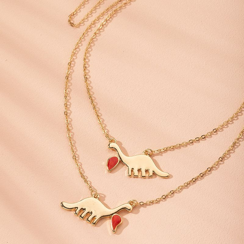 Fashion jewelry dinosaur metal clavicle chain wild trend choker necklace for women wholesale NHAI241760