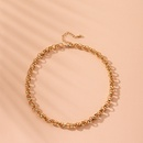 Fashion simple twist rope round bead exaggerated style clavicle chain choker necklace for women NHAI241767