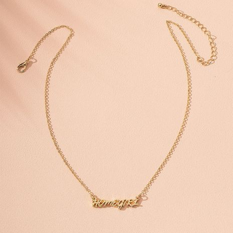 fashion english letter simple alloy necklace for women hot sale wholesale  NHAI241772's discount tags