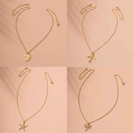 New small waist alloy fashion simple bone chain necklace clavicle chain for women  NHAI241775's discount tags