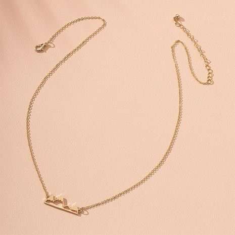 Korea Simple Water Wave Clavicle Chain Jewelry Mountain-shaped Necklace for women Wholesale  NHAI241776's discount tags