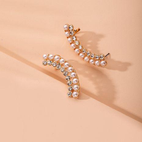 New fashion diamond arc ear clip earrings wholesale nihaojewelry NHAI241792's discount tags