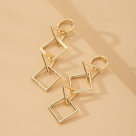 Korea new simple geometric diamond earrings wholesale nihaojewelry NHAI241793's discount tags