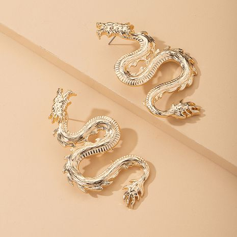 creative hip-hop style dragon-shaped earrings punk trend retro style earrings wholesale nihaojewelry NHAI241794's discount tags
