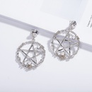exaggerated  fivepointed star geometric hollow earrings wholesale nihaojewelry NHAI241798