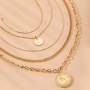 Alloy multilayer coin pendants fashion coins necklaces for women wholesale NHAI241810