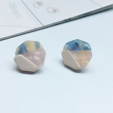 new acrylic stitching candy hit color geometric fashion simple wild earrings for women NHAI241811's discount tags