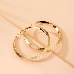 oversized street trend exaggerated earrings big circle earrings wholesale nihaojewelry NHAI241812's discount tags