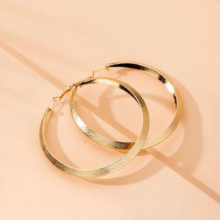 tendance de rue surdimensionnée boucles d'oreilles exagérées boucles d'oreilles grand cercle en gros nihaojewelry NHAI241812's discount tags