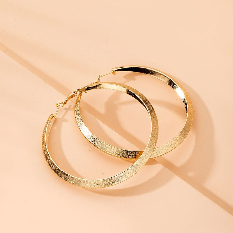 oversized street trend exaggerated earrings big circle earrings wholesale nihaojewelry NHAI241812