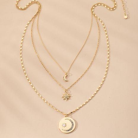 Collier pendentif tendance étoile à six branches en alliage de galaxie sauvage à la mode NHAI241813's discount tags