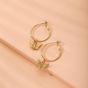 papillon nouvelle Corée boucles d'oreilles cercle en gros nihaojewelry NHAI241815's discount tags