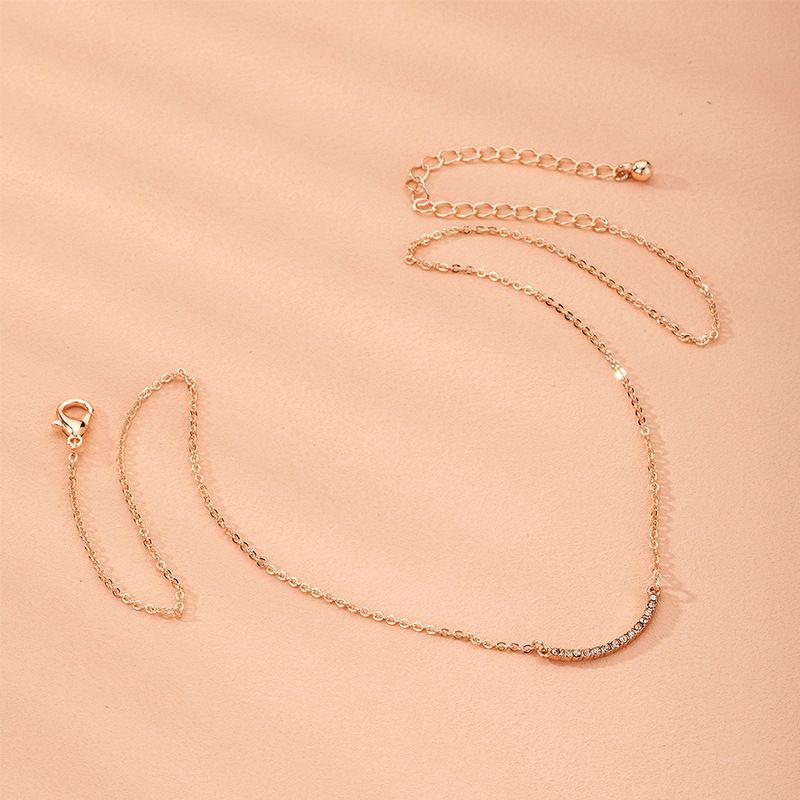 Korean diamond new alloy clavicle chain necklace for women wholesale NHAI241823
