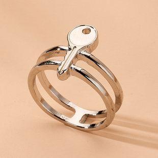 porte-clés de style simple anneaux de géométrie minimaliste en gros nihaojewelry NHAI241824's discount tags