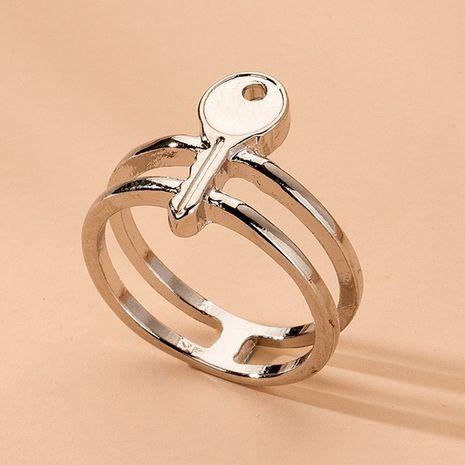 simple style key ring minimalist geometry rings wholesale nihaojewelry NHAI241824's discount tags