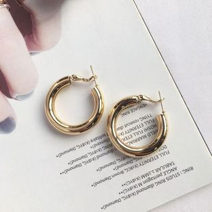 Fashion exaggerated new simple circle earrings metal sequin jewelry earrings for women NHAI241825's discount tags