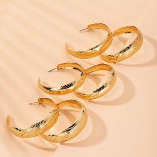 nouveau style grand modèle boucles d'oreilles exagérées boucles d'oreilles grand cercle en gros nihaojewelry NHAI241826's discount tags