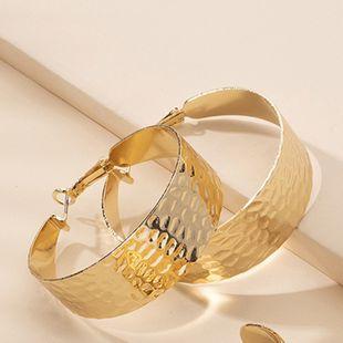 nouveau style simple texture en métal boucles d'oreilles rondes en gros nihaojewelry NHAI241828's discount tags