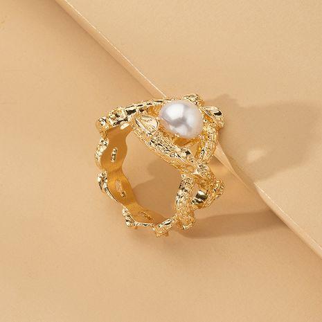 anillo de perlas exagerado estilo de moda anillo de metal al por mayor nihaojewelry NHAI241831's discount tags