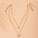 Korea fashion clavicle chain simple metal double alloy necklace for women wholesale NHAI241832