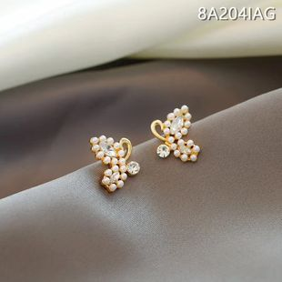 S925 Silver Needle Korea Pearl Butterfly Senior New Trendy  alloy Earrings for women NHXI241842's discount tags