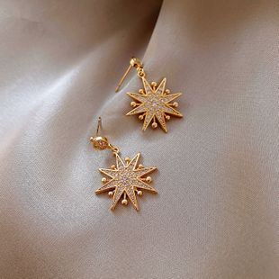 925 silver needle alloy fashion new eight-pointed star earrings ear jewelry for women NHXI241852's discount tags