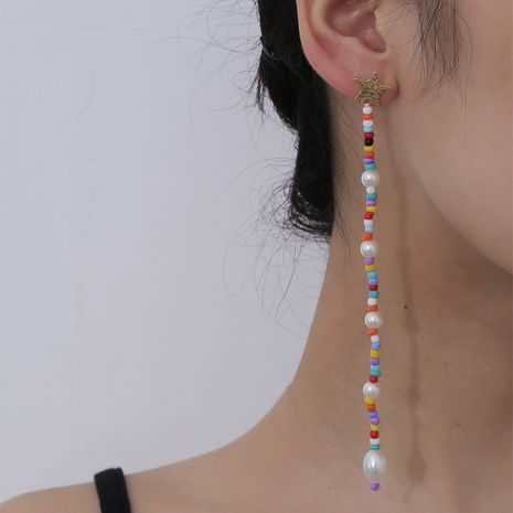 Fashion simple baroque pearl retro clan style beaded earrings for women NHXR241860's discount tags