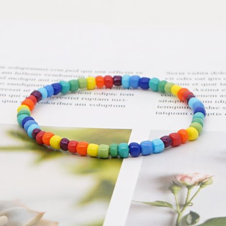 fashion glass beads handmade beaded colorful enamel women's bracelet NHGW241866's discount tags