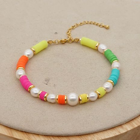 fashion  wild colored clay holiday beach foot decoration natural freshwater pearl anklet  NHGW241871's discount tags
