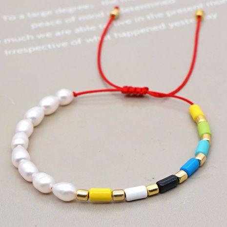 Brazalete de cuentas de esmalte de aleación de color perla natural salvaje de moda coreana NHGW241886's discount tags