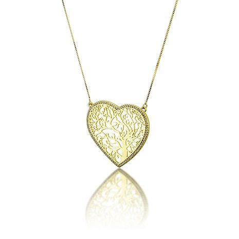 hot sale inlaid zirconium heart-shaped tree necklace copper plating peach heart pendant wholesale nihaojewelry NHBP241898's discount tags
