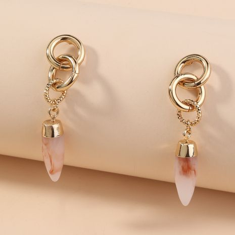 Creative pink bullet earrings metal hoop trend new ladies earrings wholesale nihaojewelry NHAN241927's discount tags