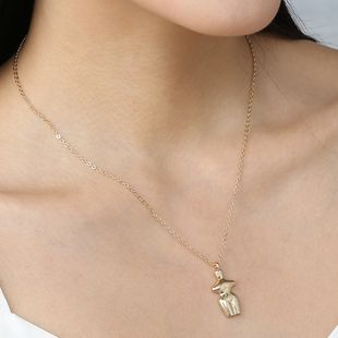 fashion metal small gold man pendant men and women hipster alloy portrait necklace for women NHAN241951's discount tags