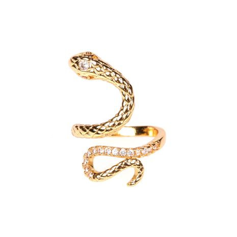 new snake-shaped winding ring adjustable simple ring wholesale nihaojewelry NHPY241970's discount tags