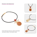 new short leather cord alloy drop oil pendant necklace for women NHTF241982