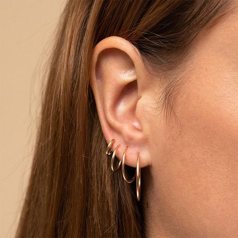 Fashion stainless steel geometric set accessories earrings for women NHTF241999's discount tags