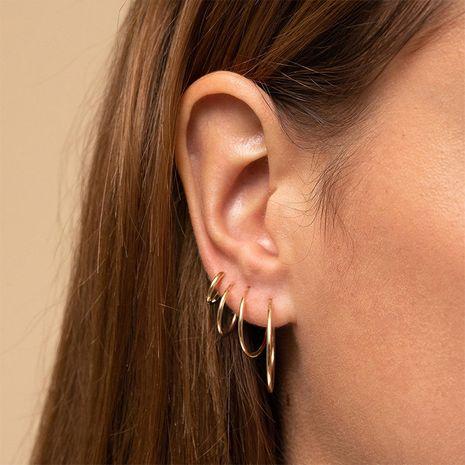 Pendientes de accesorios de moda geométrica de acero inoxidable para mujer NHTF241999's discount tags