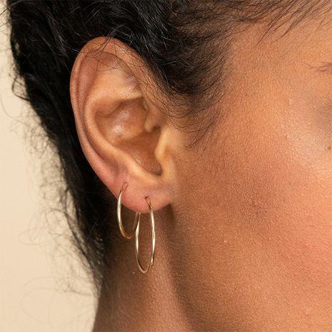 Nuevos pendientes simples de acero inoxidable geométricos de nueva moda para joyería de mujer NHTF242000's discount tags