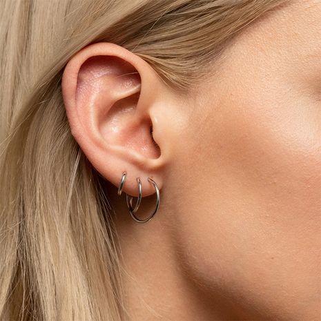 Pendientes de mujer de acero inoxidable de moda Conjunto de pendientes chapados en oro NHTF242026's discount tags