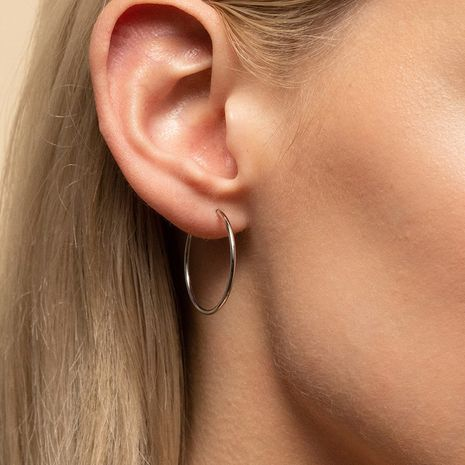 Hot-saling fashion stainless steel simple earrings for women wholesale NHTF242030's discount tags