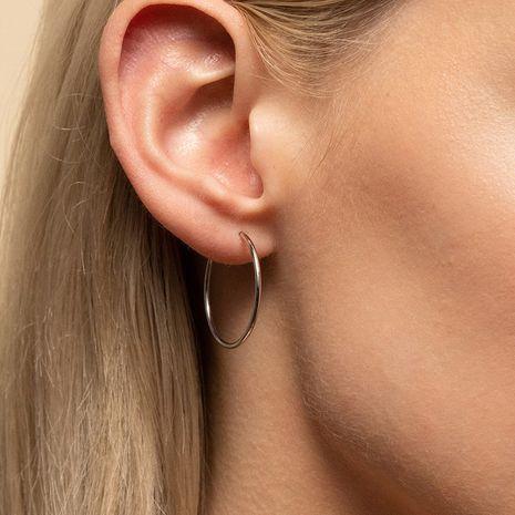 Pendientes simples de acero inoxidable de moda en caliente para mujeres al por mayor NHTF242030's discount tags