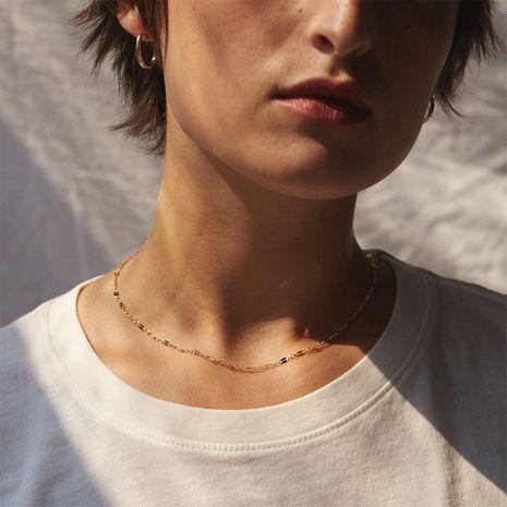 joyería caliente-venta cadena de labios de encaje simple cadena de plata 925 collar de clavícula de las mujeres NHTF242031's discount tags