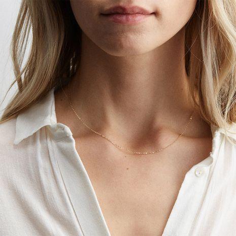 Moda para mujer simple 925 joyería de plata collar de cadena de clavícula nuevo collar para mujer NHTF242032's discount tags