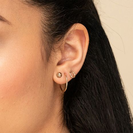 Fashion Stainless Steel Women's Geometric New Products Earrings Set wholesale NHTF242035's discount tags
