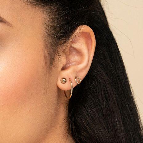 Pendientes geométricos de nuevos productos de acero inoxidable de moda para mujer NHTF242035's discount tags