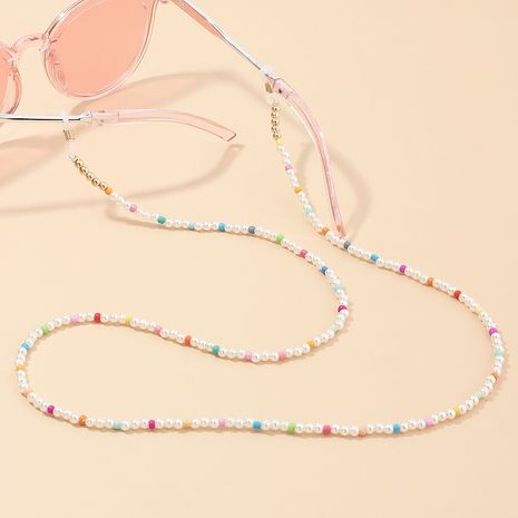 Bohemian style colored rice beads glasses chain handmade  sunglasses chain wholesale NHAU242069's discount tags