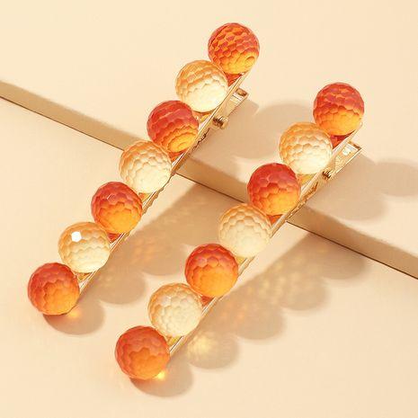 Korea candy color ball hairpin simple side hair clip Korean hairpin wholesale NHAU242083's discount tags