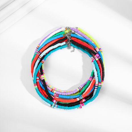 collier de disque en céramique doux fait à la main de style bohème de style chaud mis en gros nihaojewelry NHLL242097's discount tags