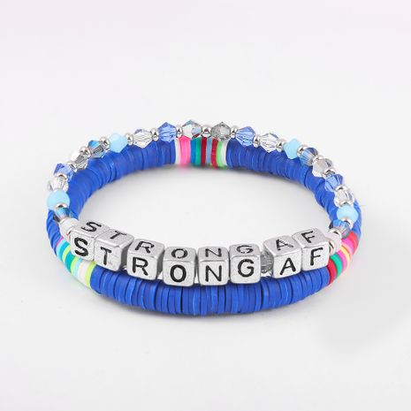 new ethnic letter crystal hot selling handmade color beaded bead bracelet   NHLL242101's discount tags