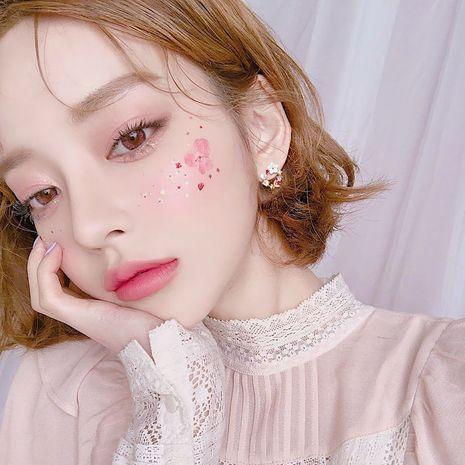Korea  fashion silver needle romantic  heart pearl flower alloy earrings  NHBQ242103's discount tags